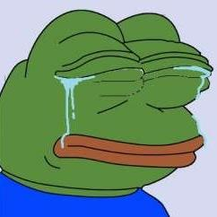 pepe crying