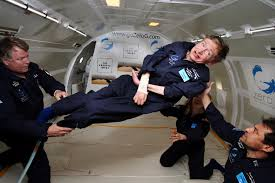 hawking in space